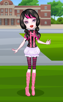 Draculaura at Monster High School by ComeAndJoinTheBand
