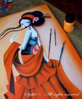 Delicate Orange in progress by LadySybile