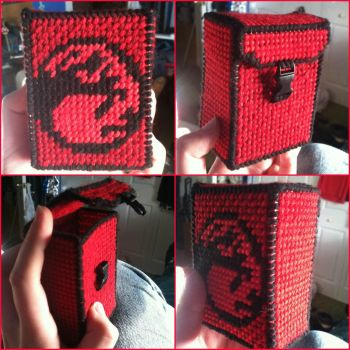 Magic the Gathering - Red/Mountain Deck Box by DarkPony967