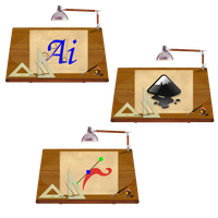 Steampunk Illustrator and Inkscape icons by pendragon1966