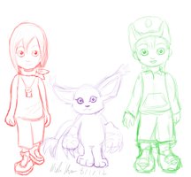 Digimon Sketches by KidaKuro