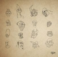 Character face concepts by KKylimos