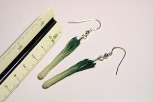 mini leeks earrings by MarthaLights