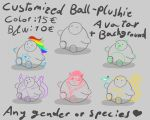 Ball-Plushie customized avatars by Whitecinnamon252