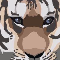 Tiger painting by DaggarHeart