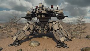 Desert Spider mecha render 3 by Avitus12