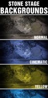 Stone Stage Backgrounds by CaCaDoo