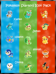 Pokemon Starters - Free Icons by xLaLaBreadx