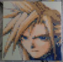 Cloud Strife by PixelArtPaintings