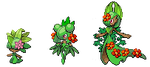 Grass Type Kirlia Family by victini04