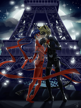 Chat Noir x Ladybug by Belovedo