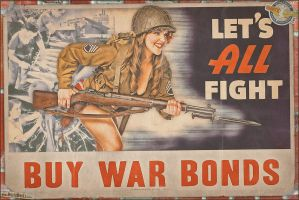 Propaganda Pinups - Let's All Fight! by warbirdphotographer