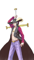 OP: AT with Ire: Mihawk by kirayukari