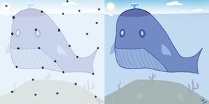 Connect the Dots - Whale by TheCatlady