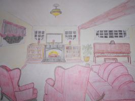 Cozy Living Room by NinaElizabethJones