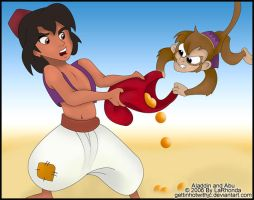 Aladdin and Abu by MissKingdomVII