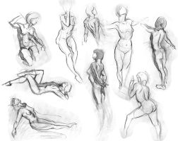 Figure Drawings by Andantonius