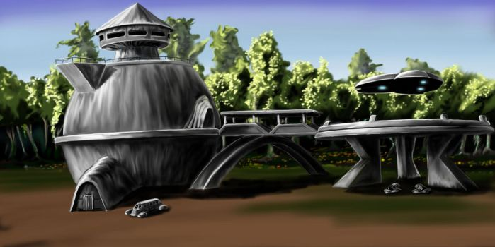 Landing Platform at Permus Colony, Keras by desuran