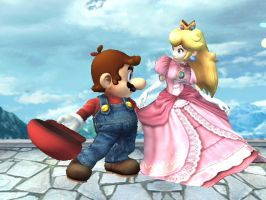Mario and Peach by LilLaura6789