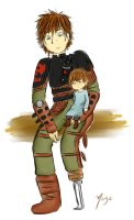 Hiccup as a father by Maye-Art