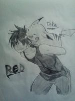 Red and Pika by landedasteroid9
