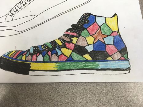 Wings of Fire inspired Shoe for art contest by Goldensky-MarineDew