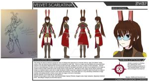 [RWBY] Velvet Scarlatina Battle Gear Design - 002 by RAFstoryart