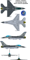 General Dynamics F-16 Fighting Falcon 309th viper by bagera3005