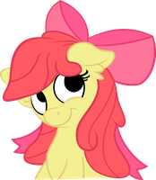 Applebloom looking adorbs by Jerick