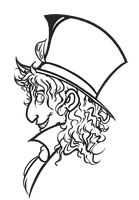 Mad Hatter Profile Lineart by Perrydotto