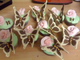Butterfly Cupcakes by AdaBerry