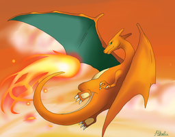 Sunset Charizard by Pikalu