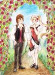 Commission: By the Rose Arbor by annsquare