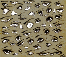 different kinds of eyes sketch by wickedevilbunny