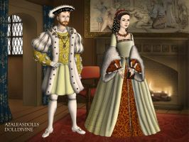 Henry the 8th and Anne Boleyn in God's Outlaw by LadyBolena