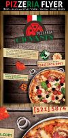 Pizzeria/Italian Restaurant Ad Flyer Template by Hotpindesigns