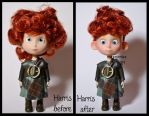 repainted ooak harris doll. - merida's brother #1. by verirrtesIrrlicht