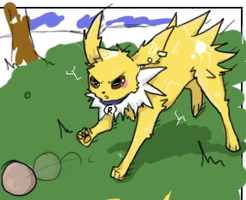 135 Jolteon by DecoPinkDingo