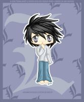 Death Note - Chibi L by Nko-ennekappao