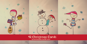 12 Christmas Cards by maybe55