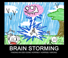 Demotivational: Brain Storming by Nintendoart