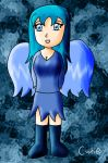 Semi-chibi Ice Fairy by cutie-chan