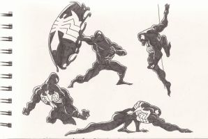 Venom_Spider-man_Doodles_June2012 by AlexBaxtheDarkSide