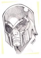 Magneto Sketch by pollomaxx
