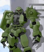 zaku 3 with baground by utilizator