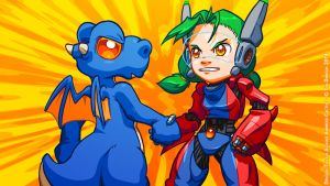 Dragon Tails vs Assault Android Cactus by sycle