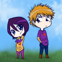 IchiRuki Chibi (Coloured) by 97Ayame97
