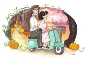 Halloween Scooter Ride by The-Happy-Apple