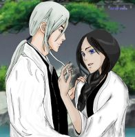 Unohana with Ukitake by VeIra-girl