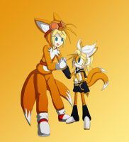 Rin x Tails = TaiRin: Double Cosplay by Skye-Izumi